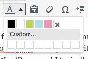Custom Text Colors